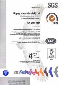 UIPL ISO Certificate